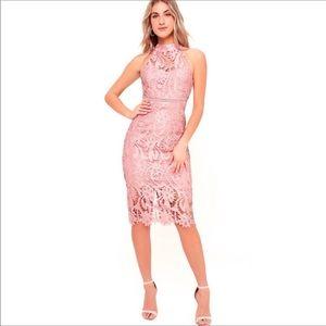 NWT Bardot Isa rose pink dress.
